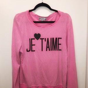 Wildfox Pink Sweatshirt